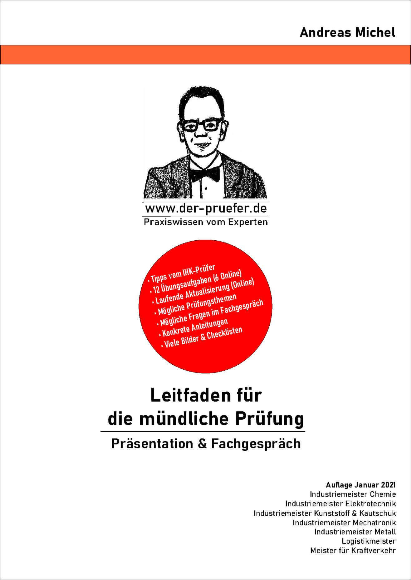 Buch & Online-Buch mündliche Prüfung  Industriemeister  Präsentation Fachgespräch