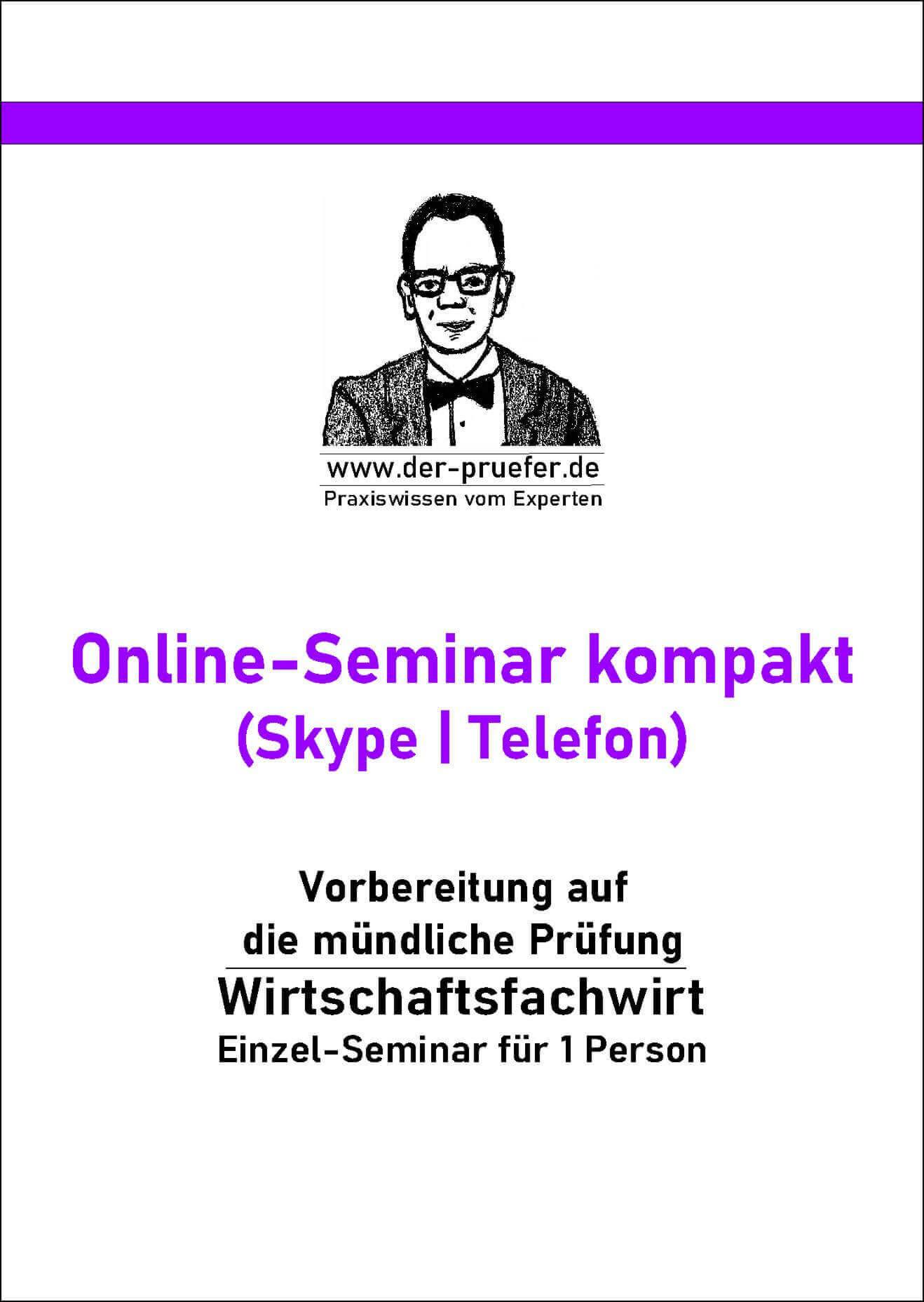 Online Seminar Präsentation Fachgespräch Wirtschaftsfachwirt kompakt