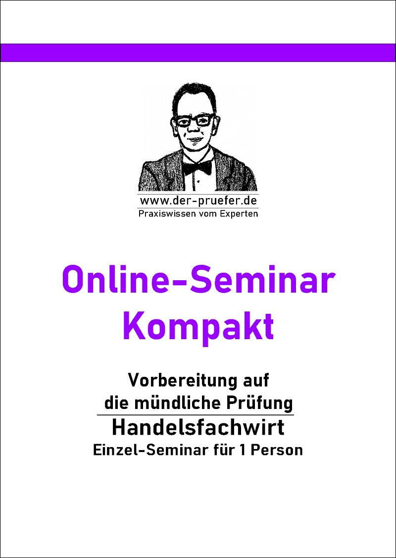 Online-seminar mündliche Prüfung Präsentation Fachgespräch Präsentationsprüfung  Handelsfachwirt